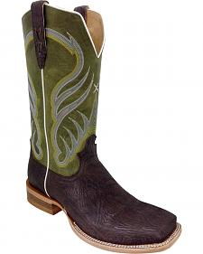Twisted X Olive Rancher Cowboy Boots - Square Toe