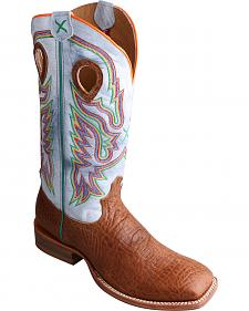 Twisted X Ruff Stock Peanut Brown Cowboy Boots - Square Toe