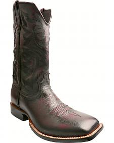Twisted X Burgundy Red River Cowboy Boots - Square Toe