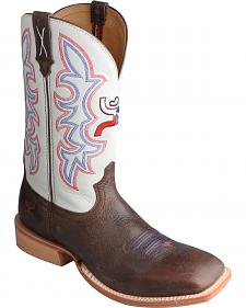 Twisted X White Hooey Cowboy Boots - Square Toe