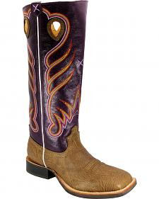 Twisted X Buckaroo Cowboy Boots - Square Toe