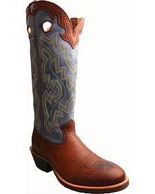 "Twisted X Navy 17"" Buckaroo Cowboy Boots - Round Toe"