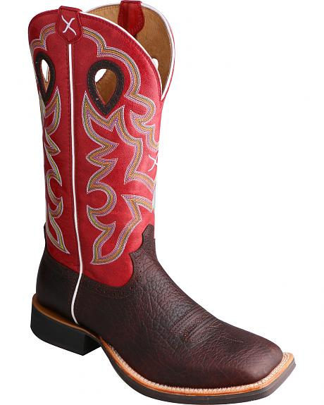 Twisted X Ruff Stock Cowboy Boots - Square Toe