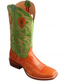 Twisted X Men's Ruff Stock Lime Cowboy Boots - Square Toe