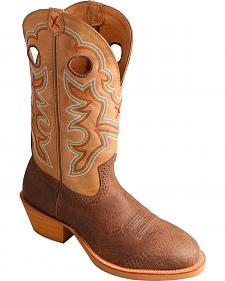 Twisted X Crazy Horse Ruff Stock Cowboy Boots - Round Toe