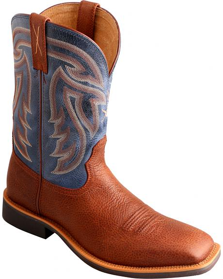 Twisted X Denim Stockman Cowboy Boots - Square Toe