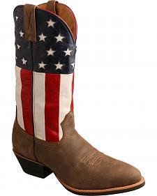 Twisted X American Flag Western Cowboy Boots - Round Toe