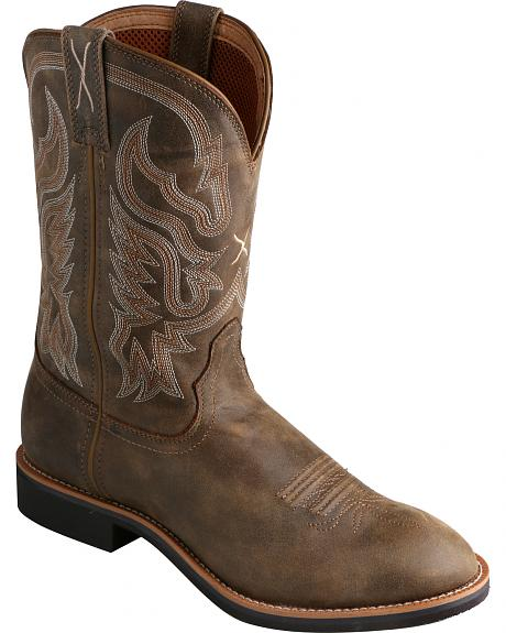 Twisted X Bomber Brown Top Hand Cowboy Boots - Round Toe