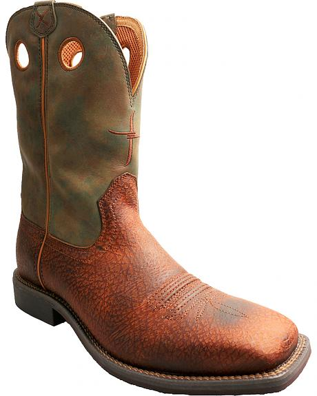 Twisted X Camo Top Hand Cowboy Boots - Square Toe
