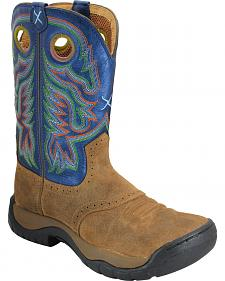 Twisted X Camel and Blue All Around Cowboy Boots - Round Toe