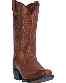 Dan Post Cognac Brown O'Neal Cowboy Boots - Square Toe