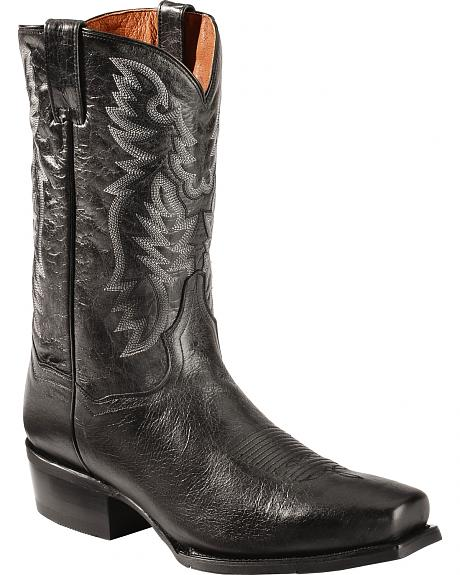 Dan Post Black O'Neal Cowboy Boots - Square Toe
