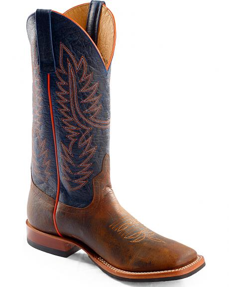 Anderson Bean Horse Power Toast Bison Western Boots - Square Toe