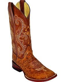 Ferrini Argentinian Bullhide Acero Cowboy Boots - Square Toe