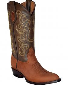 Ferrini Men's French Calf Leather Cowboy Boots - Round Toe