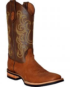 Ferrini Men's French Calf Leather Cowboy Boots - Square Toe