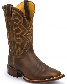 Nocona Tan Frida Let's Rodeo Cowboy Boots - Square Toe