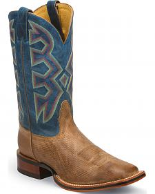 Nocona Temple Tan Let's Rodeo Western Boots - Square Toe