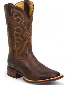 Nocona Cognac Zulu Let's Rodeo Western Boots - Square Toe