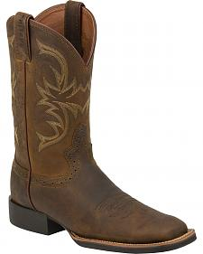 Justin Sorrell Apache Stampede Cattleman Cowboy Boots - Square Toe