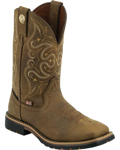 Justin George Strait Women's Brown Waterproof Cowgirl Boots - Square Toe