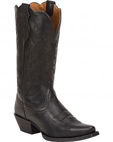 Justin Panther Black Farm & Ranch Cowgirl Boots - Snip Toe