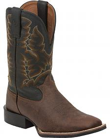 Tony Lama Brown Pitstops 3R Western Work Boots - Square Toe