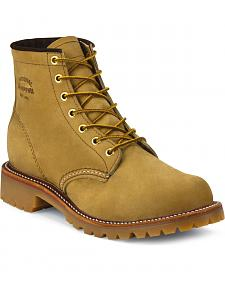 "Chippewa Men's 6"" Lace-Up Golden Apache Lugged Boots - Round Toe"