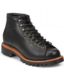 Chippewa Men's Black Lace-to-Toe Field Boots - Round Toe