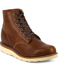 Chippewa Men's Renegade Tan General Utility Boots - Round Toe