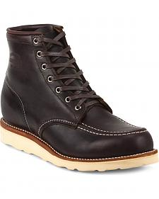 Chippewa Men's Cognac General Utility Boots - Moc Toe