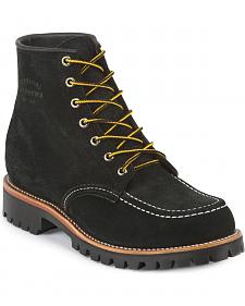 "Chippewa Men's 6"" Lace-Up Suede Field Boots - Moc Toe"