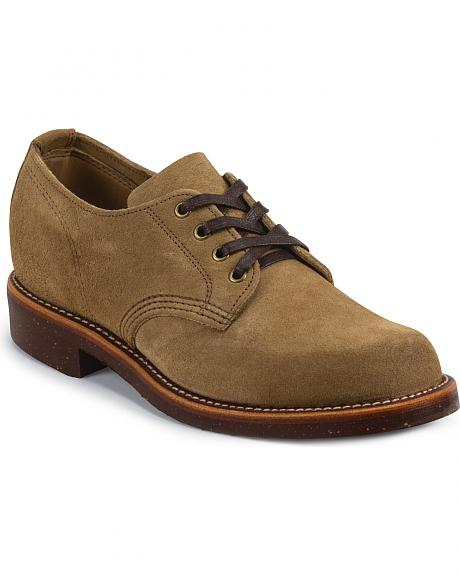 Chippewa Men's Khaki Whirlwind Service Suede Oxford Shoes