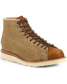 Chippewa Men's Reverse Suede Utility Bridgemen Boots - Round Toe