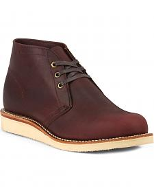 Chippewa Men's 1955 Original Modern Suburban Burgundy Boots - Round Toe