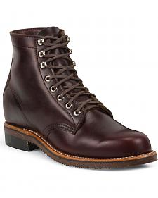 Chippewa Men's 1939 Original Burgundy Service Boots - Round Toe