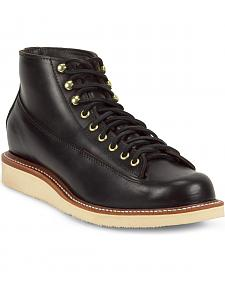 Chippewa Men's 1958 Black General Utility Boots - Round Toe