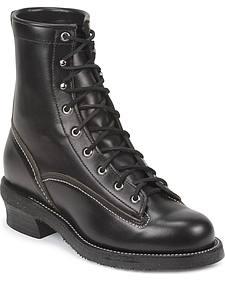 Chippewa Men's 1935 Original Black Mountaineer Logger Boots - Round Toe
