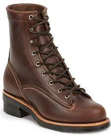 Chippewa Men's 1935 Original Chocolate Mountaineer Logger Boots - Round Toe