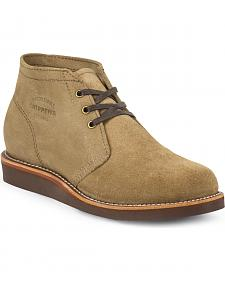 Chippewa Men's Modern Suburban Khaki Suede Shoes