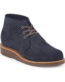 Chippewa Men's Modern Suburban Navy Suede Shoes