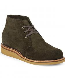 Chippewa Men's Modern Suburban Chocolate Moss Suede Shoes