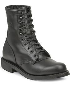 Chippewa Men's Whirlwind Black Service Boots - Round Toe