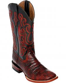 Ferrini Men's Black Cherry Caiman Belly Print Western Boots - Square Toe