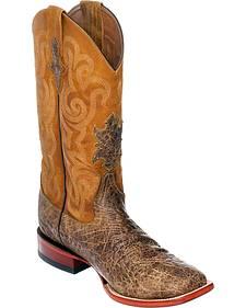 Ferrini Men's Tan Elephant Print Western Boots - Square Toe