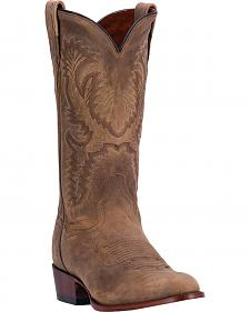 Dan Post Men's Tan High Plains Cowboy Boots - Round Toe