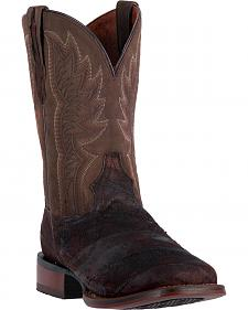 Dan Post Men's Cade Chocolate Brown Cowboy Boots - Square Toe