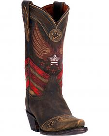 Dan Post Distressed Brown N'Dependence Cowgirl Boots - Snip Toe