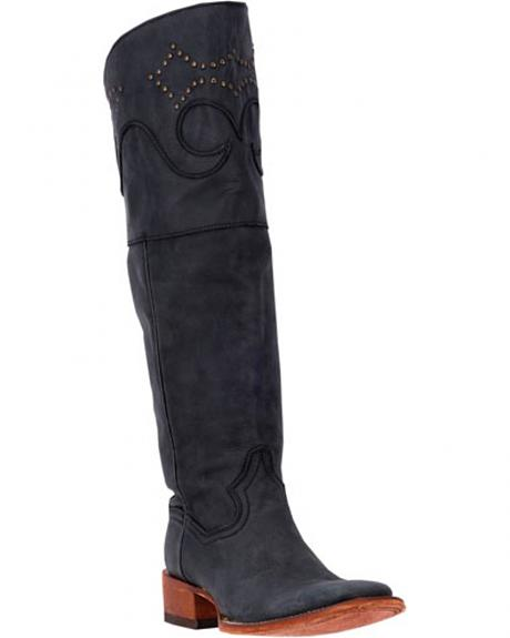 Dan Post Women's Black Misstaken Riding Boots - Square Toe