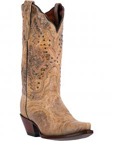 Dan Post Sand Brown Kiki Cowgirl Boots - Snip Toe